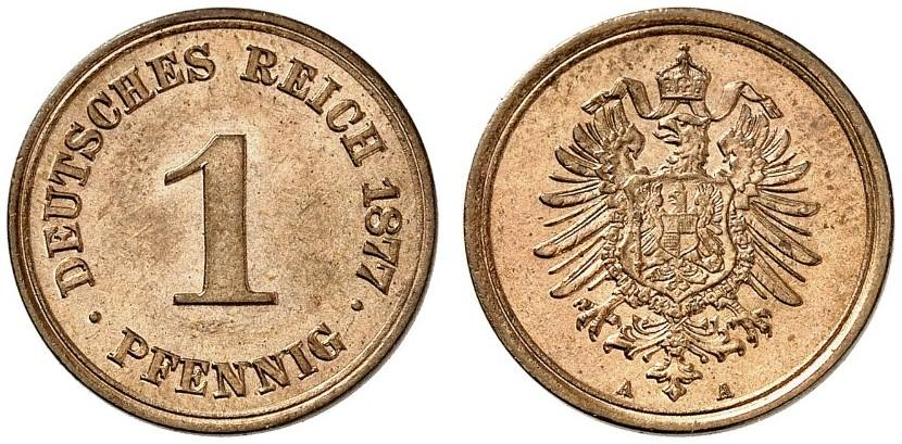 Germany 1 Pfennig 1877 A
