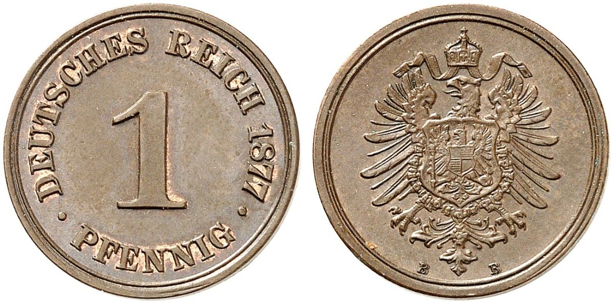 Germany 1 Pfennig 1877 B