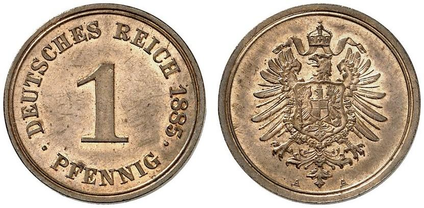 Germany 1 Pfennig 1885 A