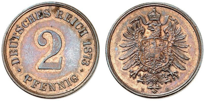 Germany 2 Pfennig 1873 B