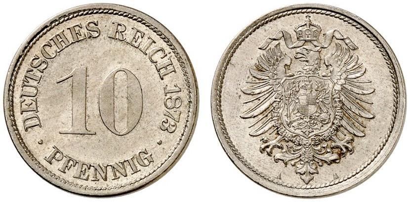 DE 10 Pfennig 1873 A