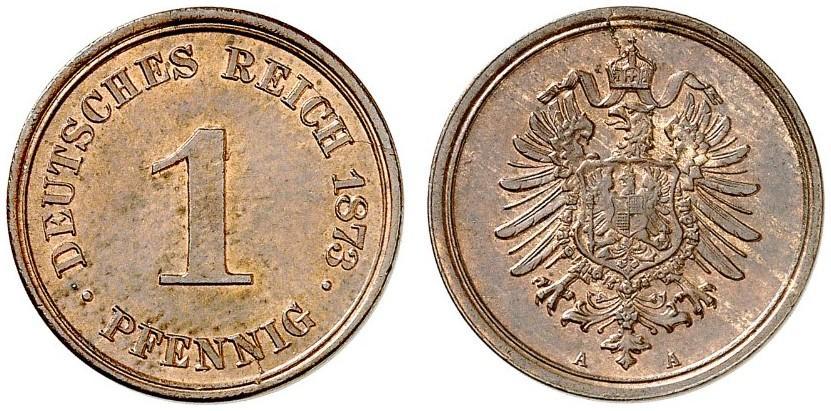 DE 1 Pfennig 1873 A