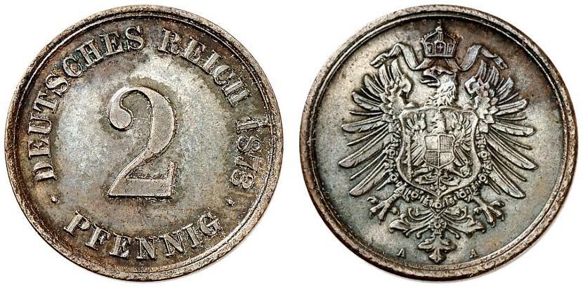 DE 2 Pfennig 1873 A