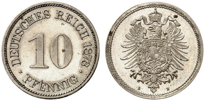 DE 10 Pfennig 1873 B