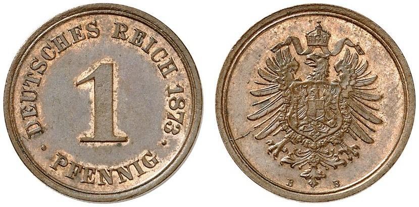 DE 1 Pfennig 1873 B