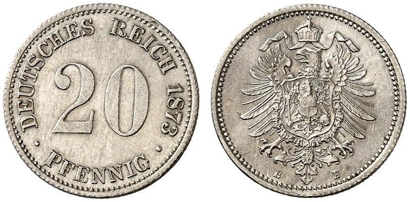DE 20 Pfennig 1873 B