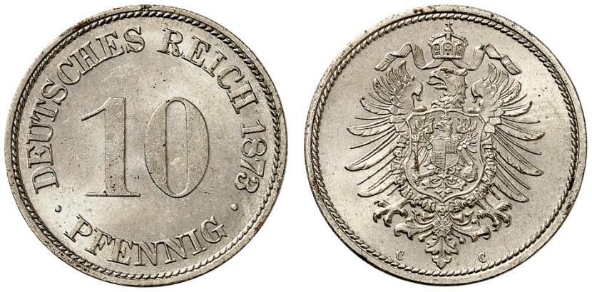 DE 10 Pfennig 1873 C