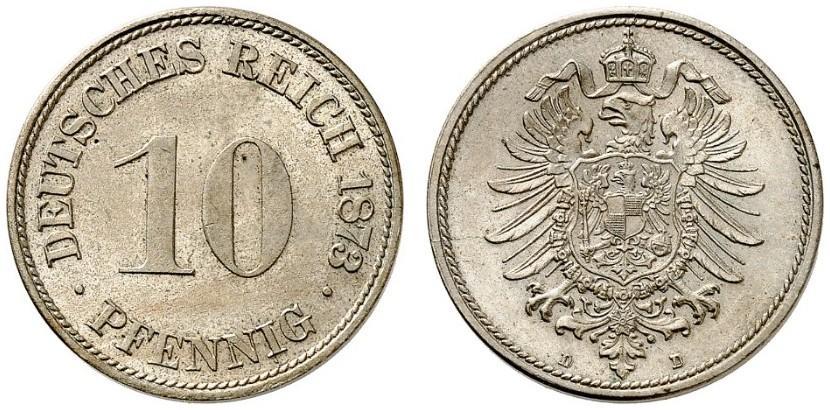 DE 10 Pfennig 1873 D