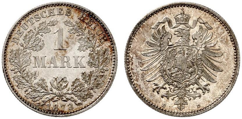 DE 1 Mark 1873 D