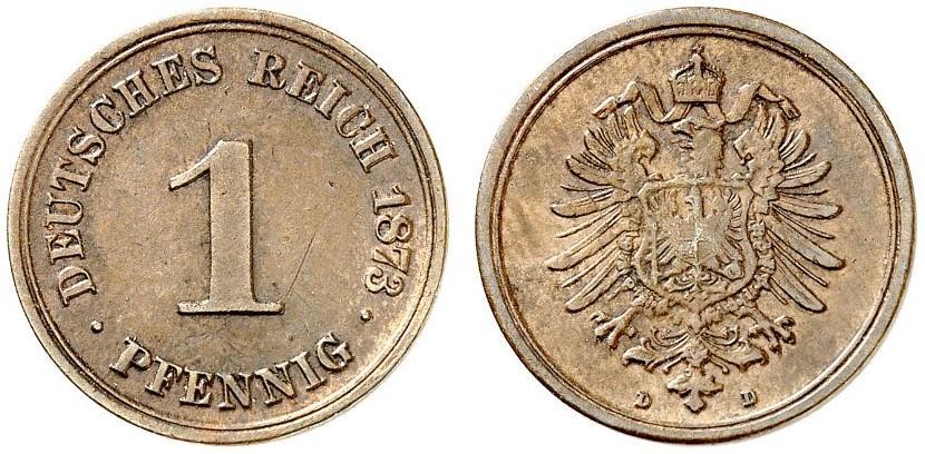 DE 1 Pfennig 1873 D
