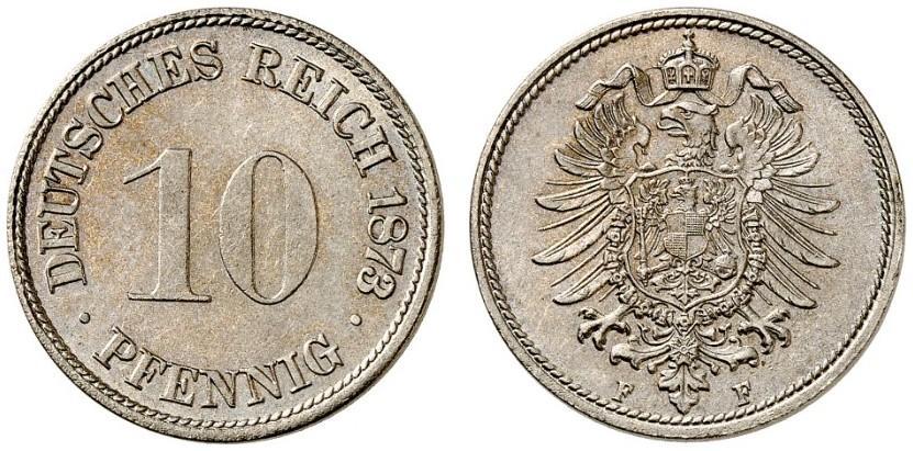 DE 10 Pfennig 1873 F
