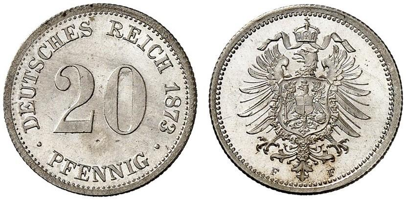 DE 20 Pfennig 1873 F