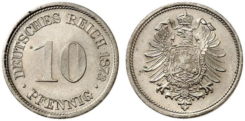 DE 10 Pfennig 1873 G
