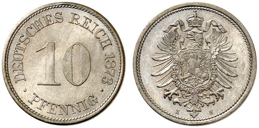 DE 10 Pfennig 1873 H