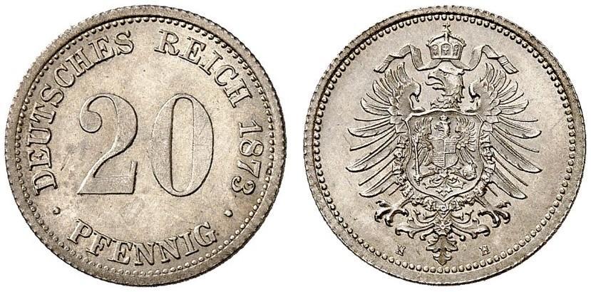 DE 20 Pfennig 1873 H