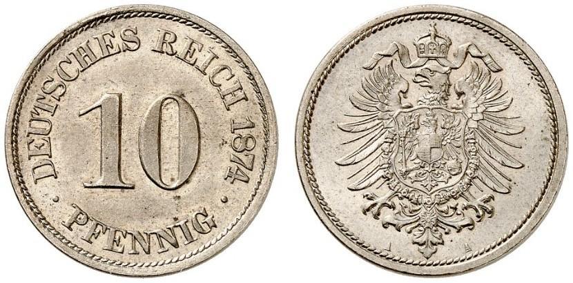 DE 10 Pfennig 1874 A