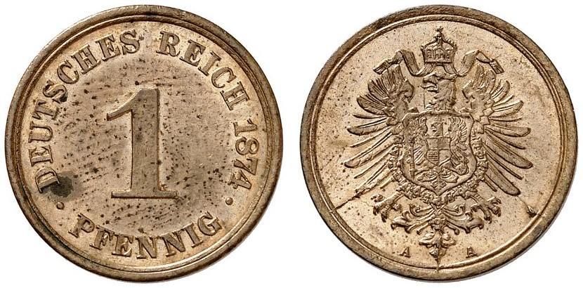 DE 1 Pfennig 1874 A