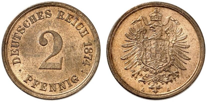 DE 2 Pfennig 1874 A