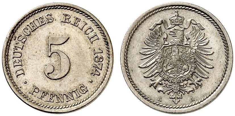 DE 5 Pfennig 1874 A