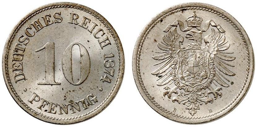 DE 10 Pfennig 1874 B