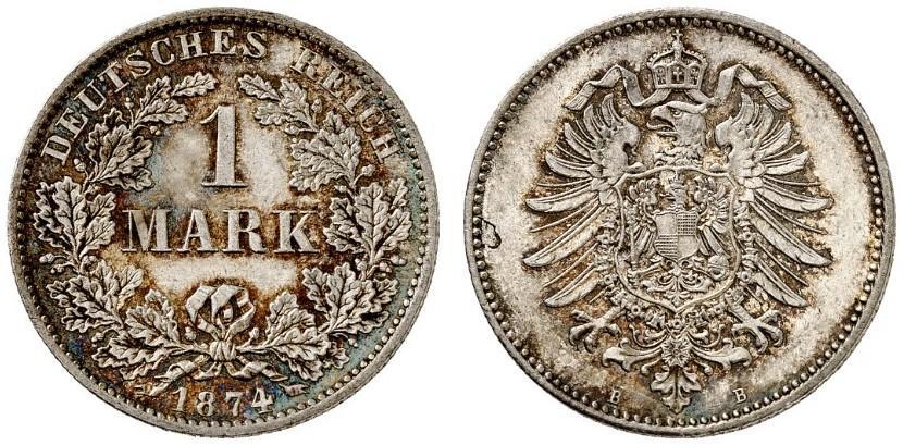 DE 1 Mark 1874 B