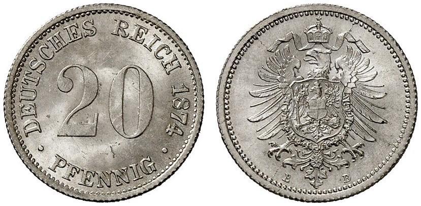 DE 20 Pfennig 1874 B