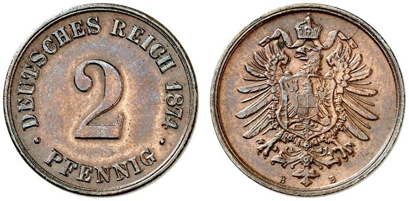 DE 2 Pfennig 1874 B
