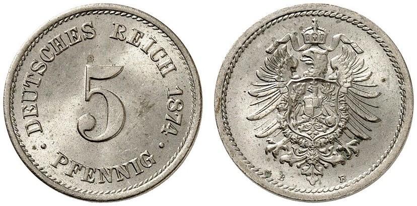DE 5 Pfennig 1874 B