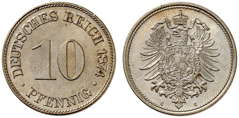 DE 10 Pfennig 1874 C