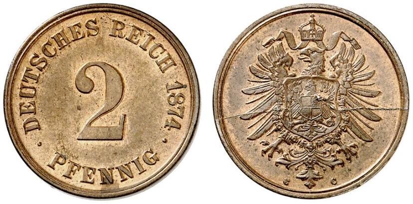 DE 2 Pfennig 1874 C