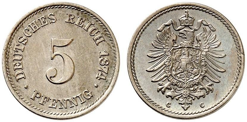 DE 5 Pfennig 1874 C