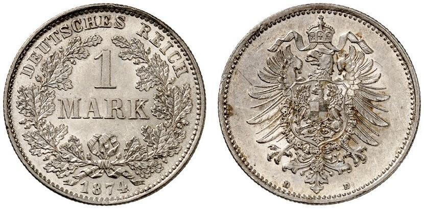 DE 1 Mark 1874 D