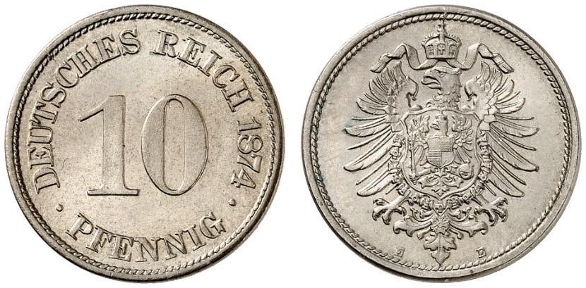 DE 10 Pfennig 1874 E