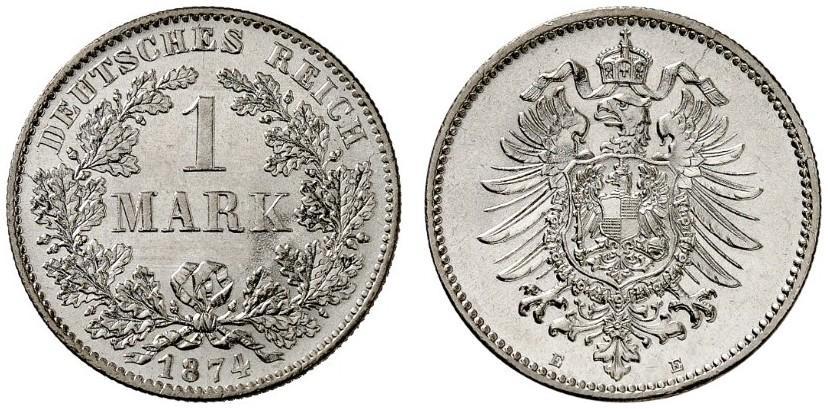 DE 1 Mark 1874 E