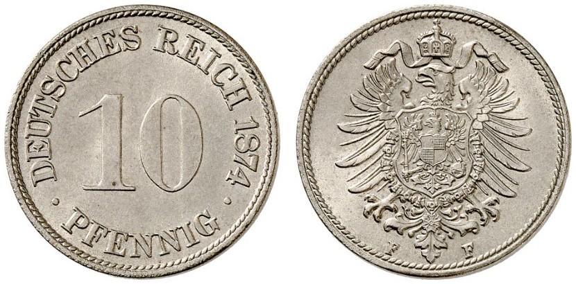 DE 10 Pfennig 1874 F
