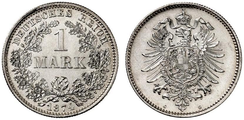 DE 1 Mark 1874 G