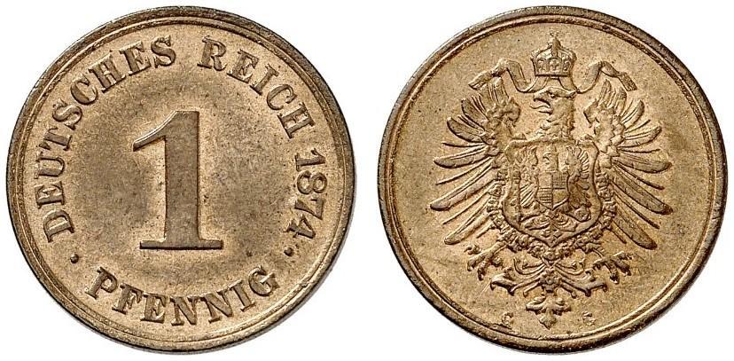 DE 1 Pfennig 1874 G
