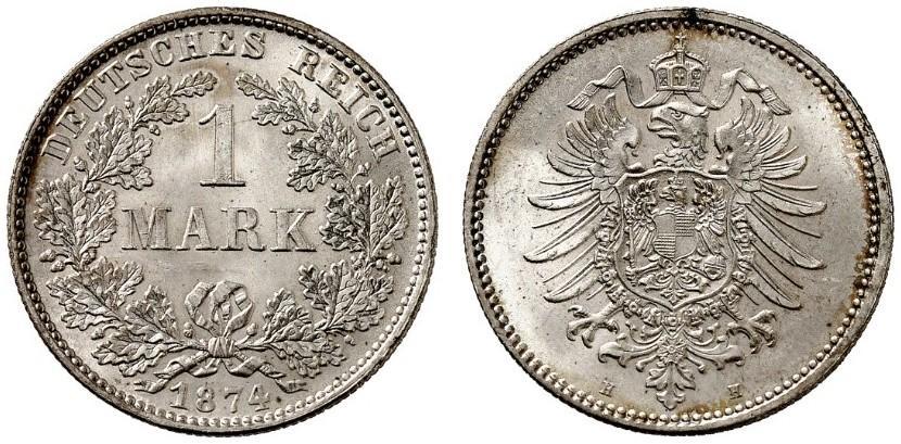 DE 1 Mark 1874 H