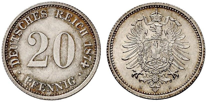 DE 20 Pfennig 1874 H