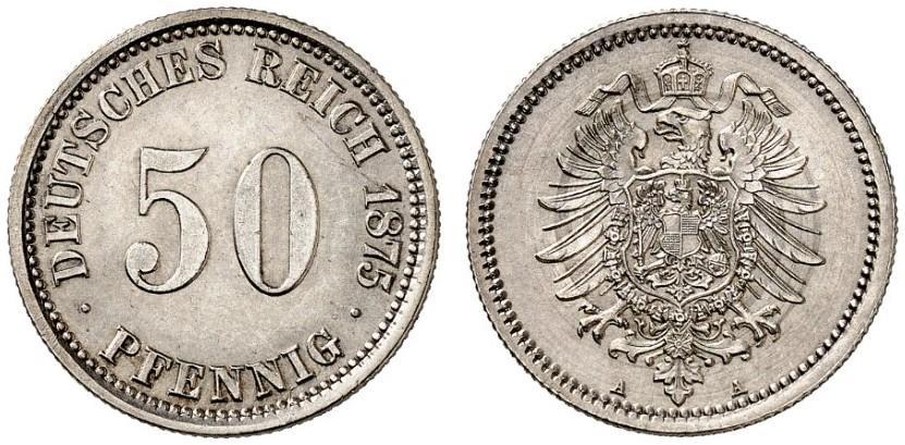 DE 50 Pfennig 1875 A