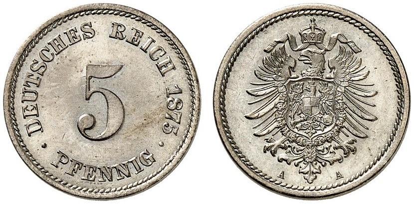 DE 5 Pfennig 1875 A
