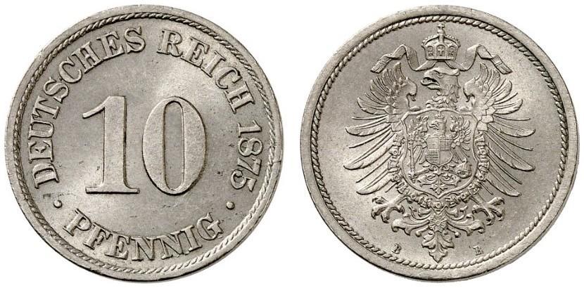 DE 10 Pfennig 1875 B