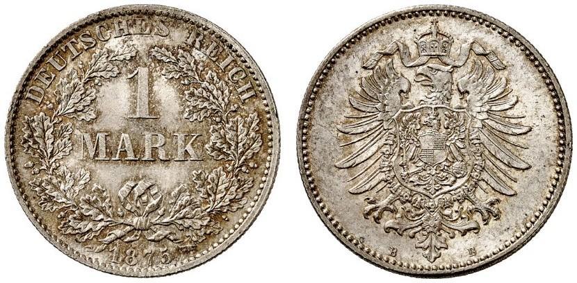 DE 1 Mark 1875 B