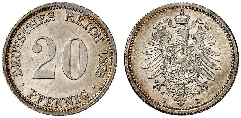 DE 20 Pfennig 1875 B
