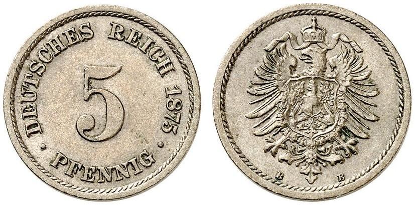 DE 5 Pfennig 1875 B