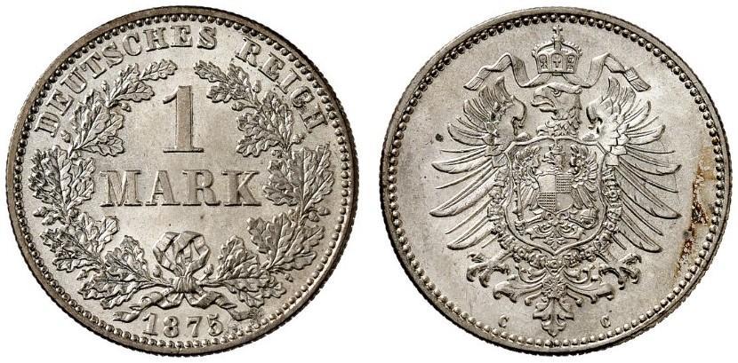 DE 1 Mark 1875 C