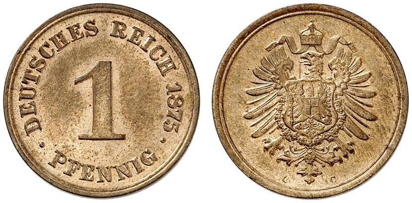 DE 1 Pfennig 1875 C