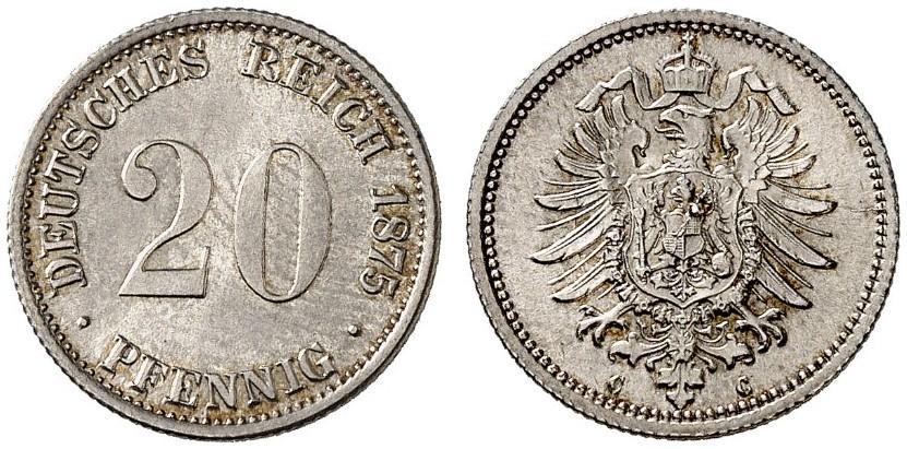 DE 20 Pfennig 1875 C