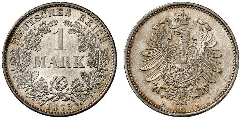DE 1 Mark 1875 D