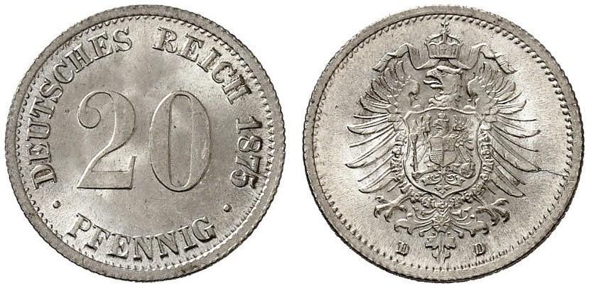 DE 20 Pfennig 1875 D